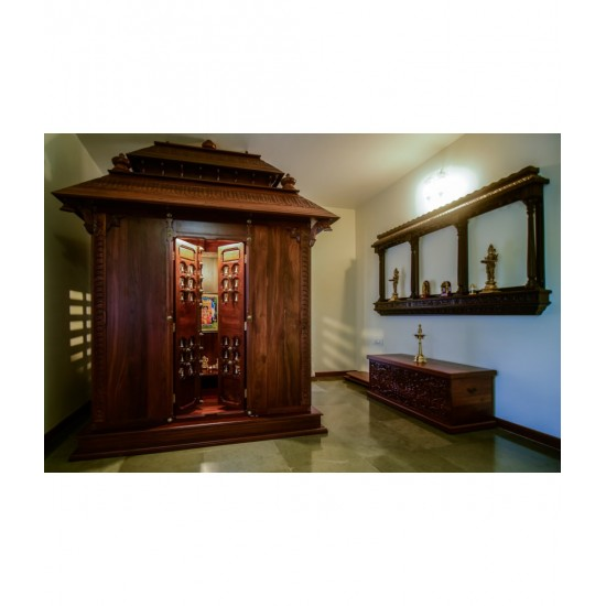 Traditional Wooden Pooja Room Mandir For Home South Indian Temple Room For Apartments