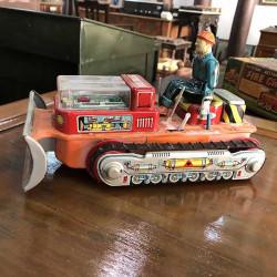 Bulldozer Antique Tin Toy