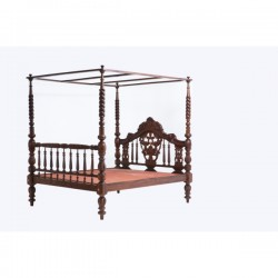 Classical Indian Laurel Four Poster Bed