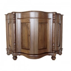Antique Style Curved Wooden Sideboard