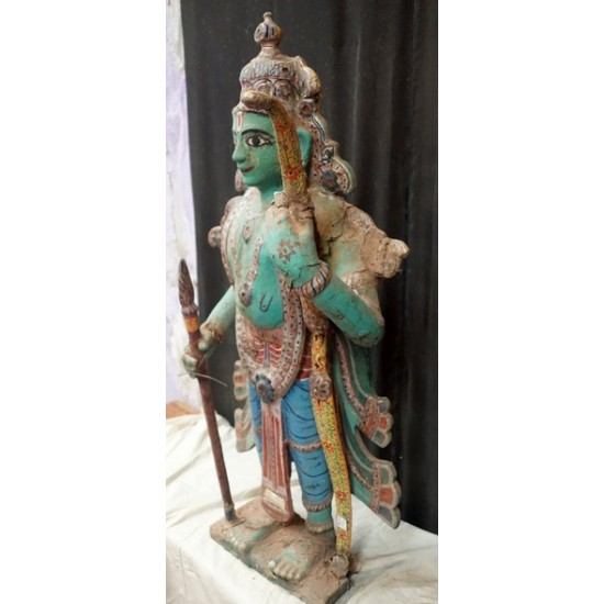 Antique Wooden Figure Hindu God Rama