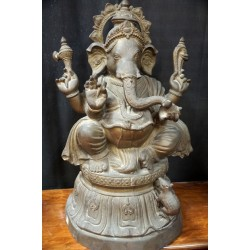 Antique Ganesha Statue Made of Brass