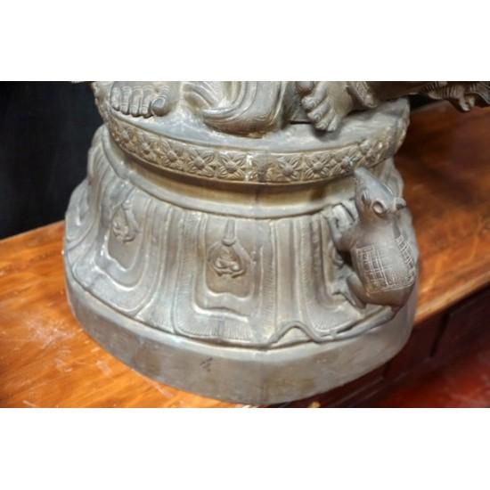 Antique Ganesha Statue Made of Brass