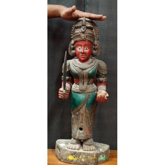 Antique Hindu Temple Security Figure