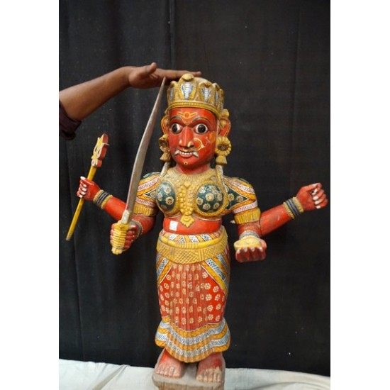 Antique Indian Goddess Temple Statue