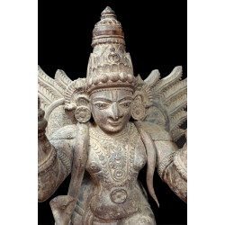Antique Wooden Lord Garuda Statue