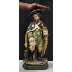 Antique Wooden Saint Anthony Statue