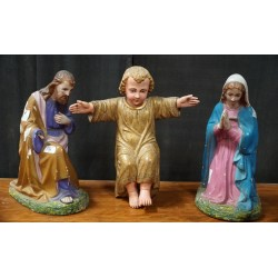 Antique terracotta holy family
