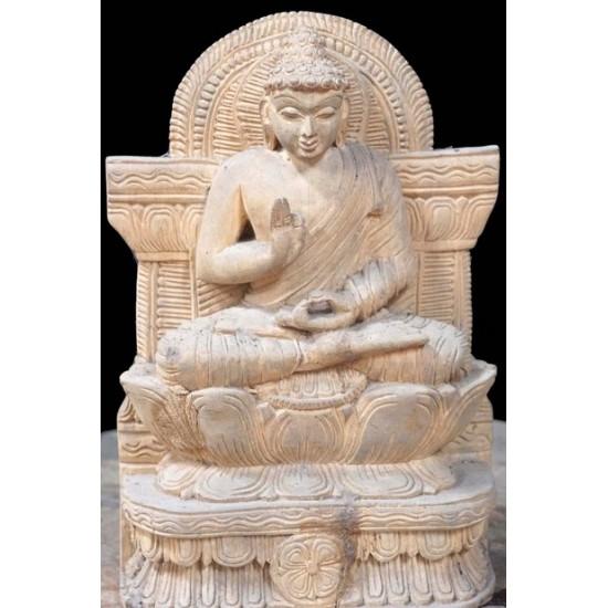 Antique Wooden Buddha Figure