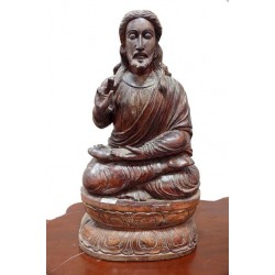 Antique Wooden Carved Jesus Statue