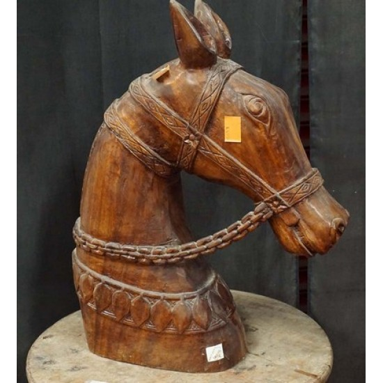 Antique Wooden Horse Head