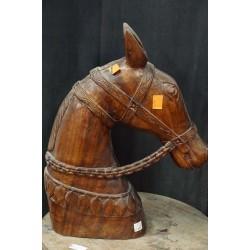 Antique Wooden Horse Head