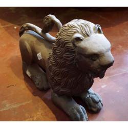 Antique Wooden carved Lion Statue