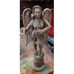 Antique wooden guardian angel