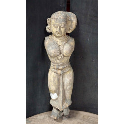 Antique wooden lady statue