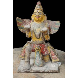 Lord Garuda Antique Wooden Statue