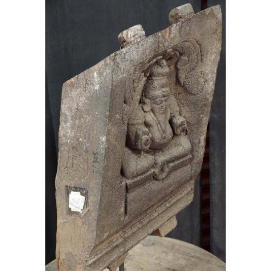 Wooden Chariot Piece Lord Kubera