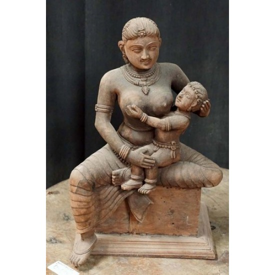 Wooden mother statue