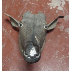Antique Wooden Mask Animal