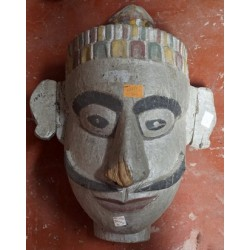 Wooden Mask Tribal Antique