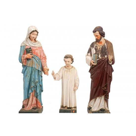 Antique Holy Family Statue