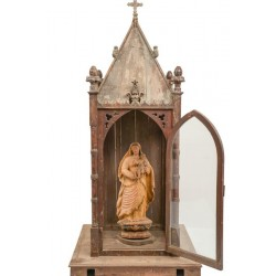 Antique Wooden Alter with Mother Mary