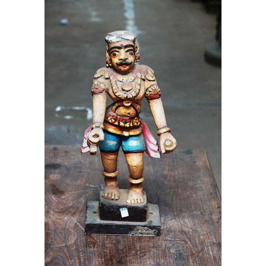Wooden Statue Of Protecting Guard