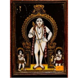 Murugan (Son of Shiva)  Glass Painting