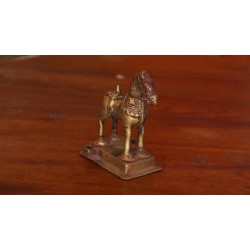 antique brass horse