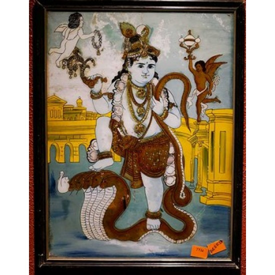 Baby krishna with snake