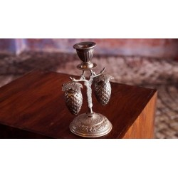 Silver Carved Hanging Salt and Pepper Shakers