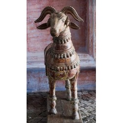 Wooden Decorative Temple Goat
