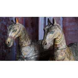 Antique Teak Wood Horses