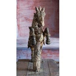 Temple Teak Wood Horse