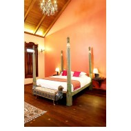 Antique Kerala Style Wooden Bed