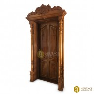 Antique Style Carved Door with Panel