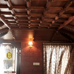 Vintage Style South Indian Teak Wood Ceiling