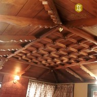 Vintage Style South Indian Teak Wood Ceiling