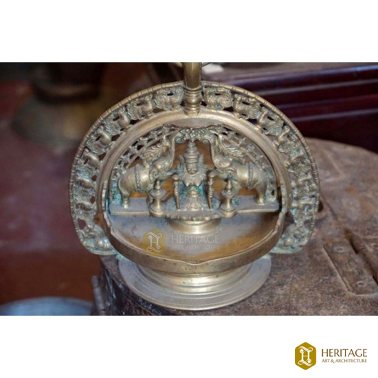 Antique Brass Gajalaxmi Hanging lamp