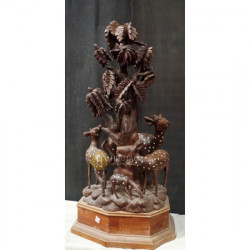 Antique Carved Rosewood Showpiece