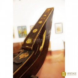 Antique Kerala Snake Boat Converted Lobby Counter