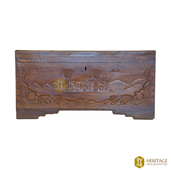 Antique Style Wooden Trunk
