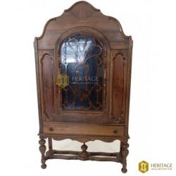 Antique Wooden Carved China Cabinet