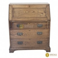 Antique Style Writing Desk With Storage