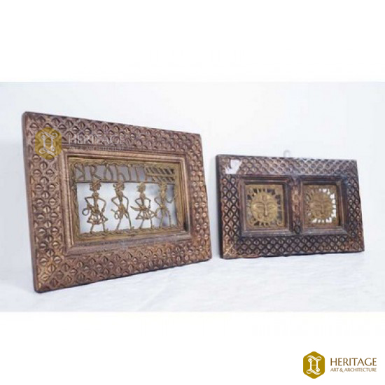 Brass And Wood Tribal Art