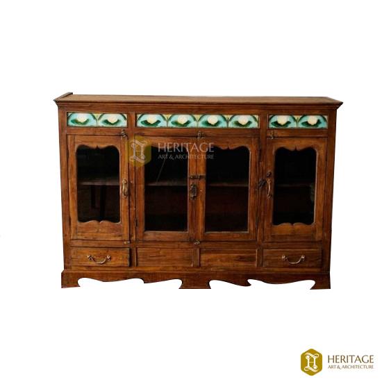 Teak Wood Sideboard Showcase