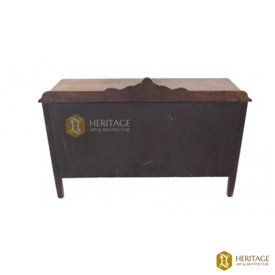 Vintage Walnut Desk with Cabinets