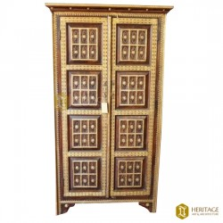 Wood and Brass Marriage Cupboard