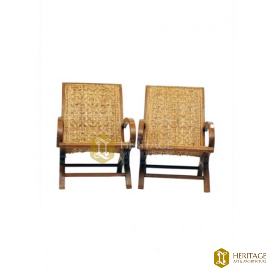 Woven Cane Easy Chair