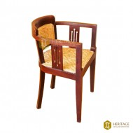 Contemporary Wooden Chair with Curved Back